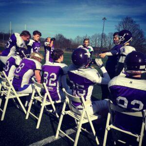 Coach Skyum working with his U16 squad [Photo provided by Kasper Skyum]